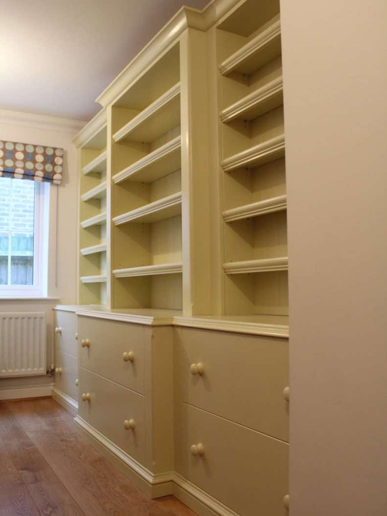 bespoke Fitted cabinets handmade for a client in Surrey